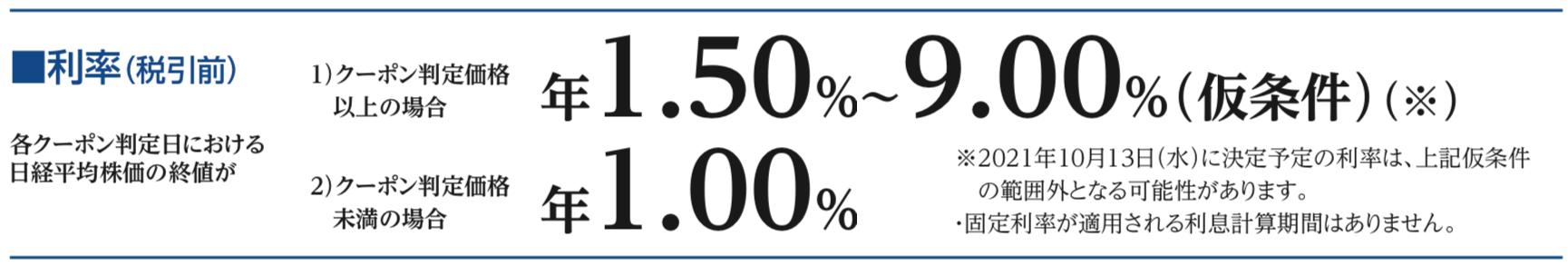 デジタルクーポン型・トリガー価格逓減早期召喚条項付の株価指数参照円建信託社債